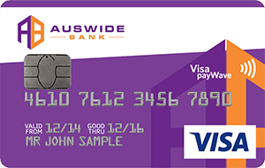 Auswide Bank Low Rate Visa Credit Card
